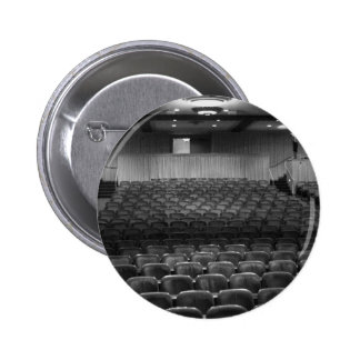 Theater Seating Black White Photo Pinback Button
