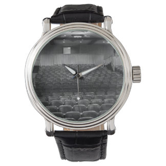 Theater Seating Black White Photo Watch