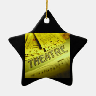 Theater Sheet Music & Tickets Ceramic Star Ornament