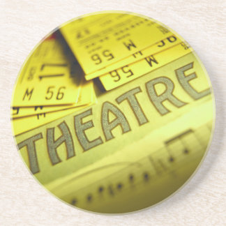 Theater Sheet Music & Tickets Coasters