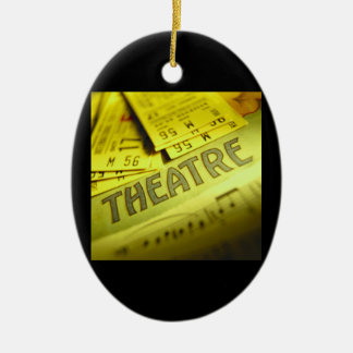 Theater Sheet Music & Tickets Ceramic Oval Ornament