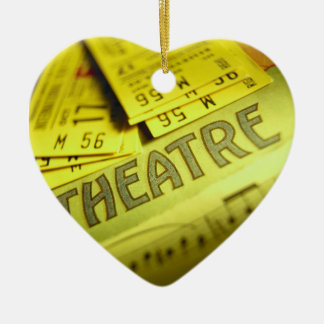 Theater Sheet Music & Tickets Double-Sided Heart Ceramic Christmas Ornament