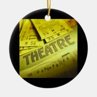 Theater Sheet Music & Tickets Round Ceramic Ornament