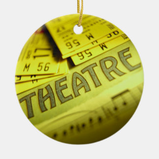 Theater Sheet Music & Tickets Round Ceramic Ornament