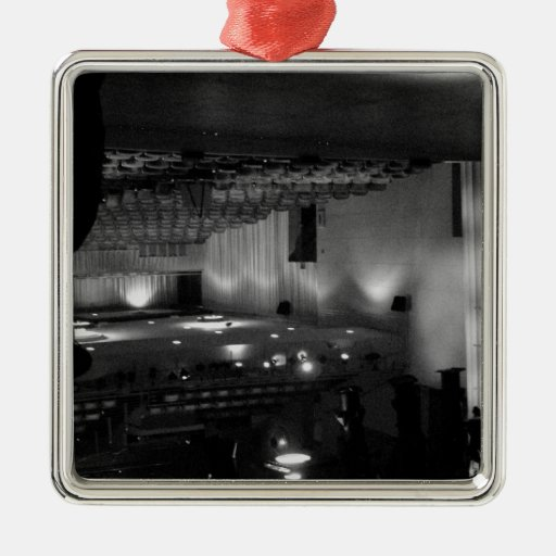 Theater Stage Black White Photo Christmas Tree Ornament