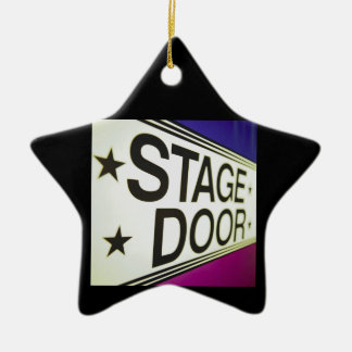 Theater Stage Door Sign Ceramic Star Ornament
