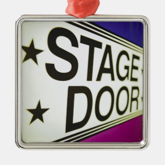 Theater Stage Door Sign Christmas Tree Ornaments