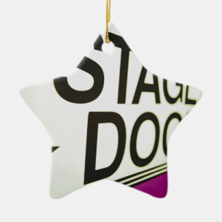 Theater Stage Door Sign Ornament