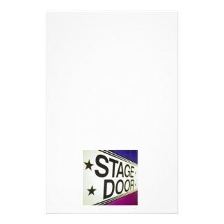 Theater Stage Door Sign Stationery Design