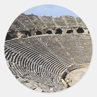 Theater Van Side, Turkish Riviera Round Sticker