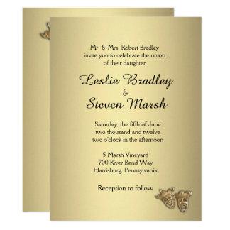 Theater Wedding Gold Invitation