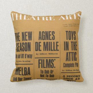 Theatre Arts Magazine Throw Pillow