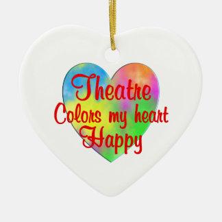 Theatre Colors My Heart Happy Ceramic Ornament
