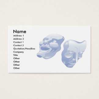 Theatre comedy and tragedy masks business cards