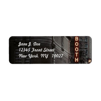 Theatre district New York City NY Address Label