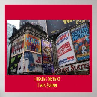 Theatre District - Times Square Poster