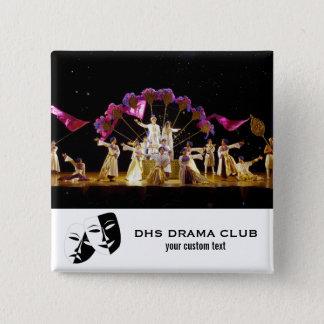 Theatre Drama Club Custom Photo Collage 2 Inch Square Button