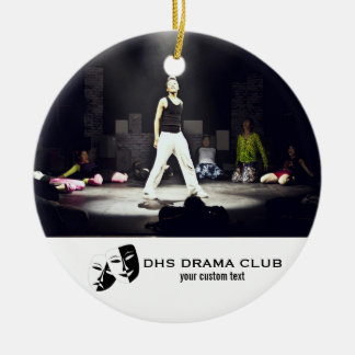 Theatre Drama Club Custom Photo Collage Ceramic Ornament