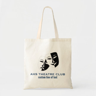 Theatre Drama Club Masks Custom Thespian Name Tote Bag
