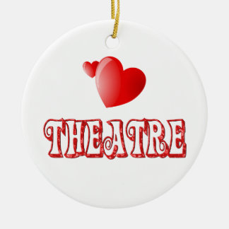 Theatre Hearts Ceramic Ornament