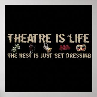 Theatre is Life Print