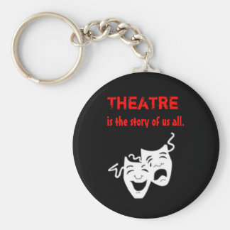 Theatre is the Story of Us All. Basic Round Button Keychain