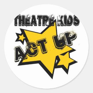 Theatre Kids Act Up Classic Round Sticker