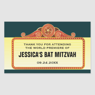 Theatre Marquee Bar Bat Mitzvah