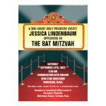 Theatre Marquee Bar Bat Mitzvah Custom Invitation