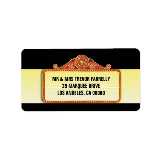 Theatre Marquee Return Label