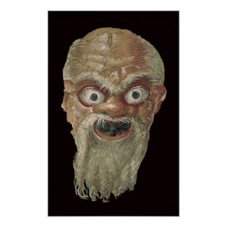 Theatre Mask, East Wall, Oecus 5, 60-50 BC Poster
