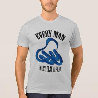 Theatre Mask Part Blue T-shirt