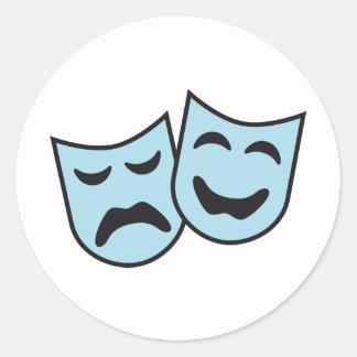 theatre MASKs Classic Round Sticker