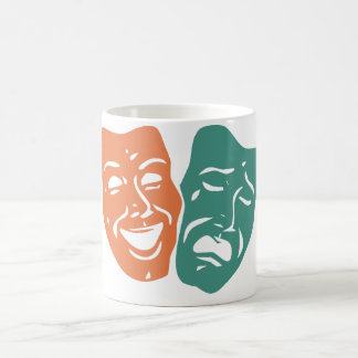 Theatre masks coffee mug