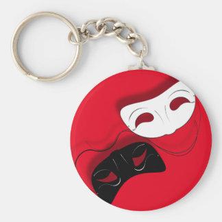 Theatre Masks Key Chain