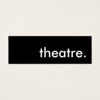 theatre. mini business card