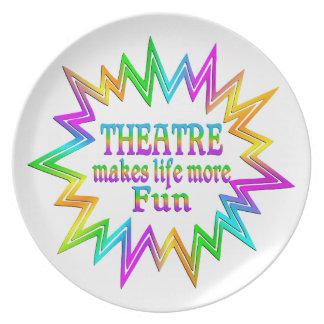 Theatre More Fun Plate
