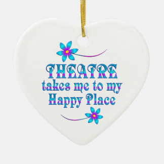 Theatre My Happy Place Ceramic Ornament