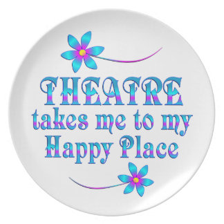 Theatre My Happy Place Plate