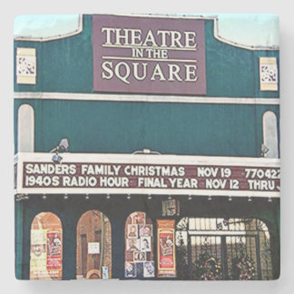 Theatre On The Square, Marietta, Ga. Marble Stone Stone Coaster
