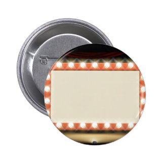 Theatre or Cinema with style light bulb sign 2 Inch Round Button