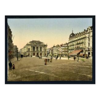 Theatre Place, Montpelier, France classic Photochr Postcard