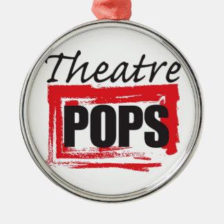 Theatre Pops goodies Silver-Colored Round Ornament