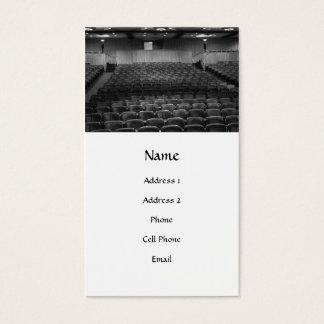 Theatre Seats Black White Business Card