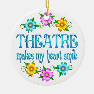 Theatre Smiles Ceramic Ornament