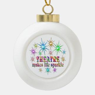 Theatre Sparkles Ceramic Ball Christmas Ornament