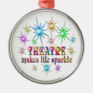 Theatre Sparkles Metal Ornament