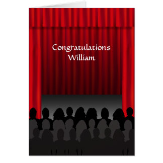 Theatre Stage Congratulations Custom Greeting Card
