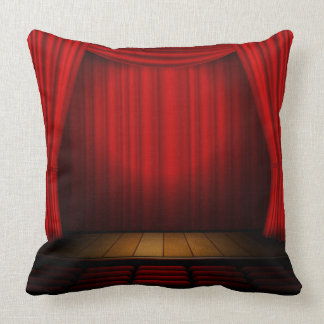 Theatre stage throw pillow