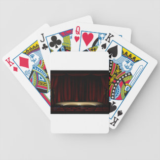 Theatre Stage with Theater Curtains Bicycle Playing Cards